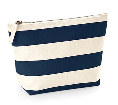 Nautical Stripe Canvas Washbag with personlisation - Aurina Ltd