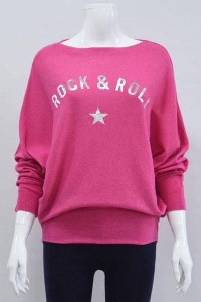 Rock and Roll Bat Wing Sleeve Top - Aurina Ltd