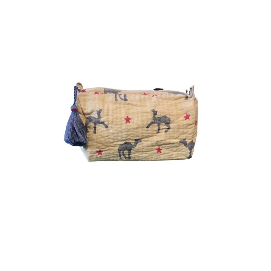Small Quilted Meredith Pouch - Aurina Ltd