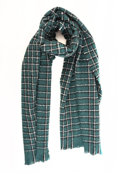 Checked Woolly Scarf - Aurina Ltd