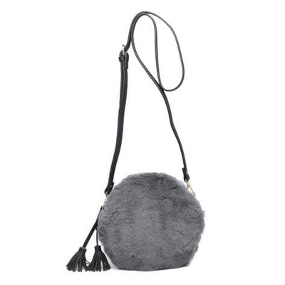 Round Faux Fur Handbag - Bags - aurina-ltd-2
