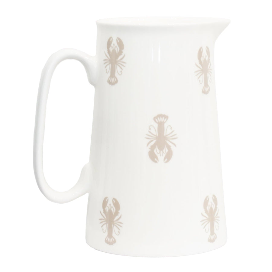 Medium Lobster bone china jug
