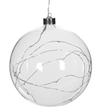 Clear Glass Lit Bauble