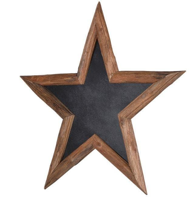 Large Wooden Star Chalk Board - Aurina Ltd