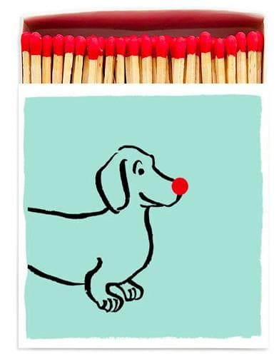 Dachsund Square Matches - Aurina Ltd