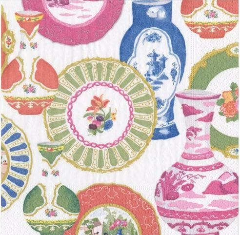 Paper Napkin - Chintzy Plates and Vases - Aurina Ltd