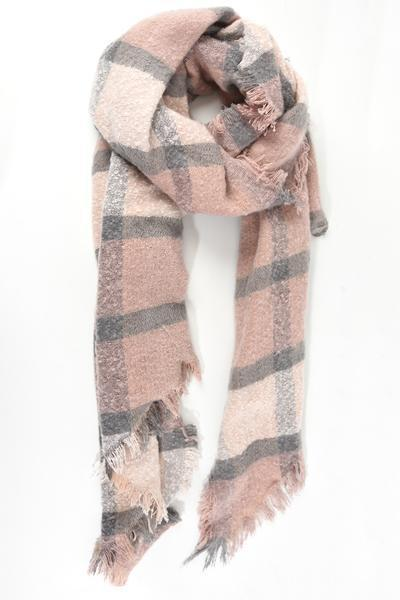 Large Check Blanket Scarf