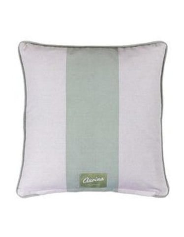 Piped Cushion Wide Stripe -  Duck Egg and Stone