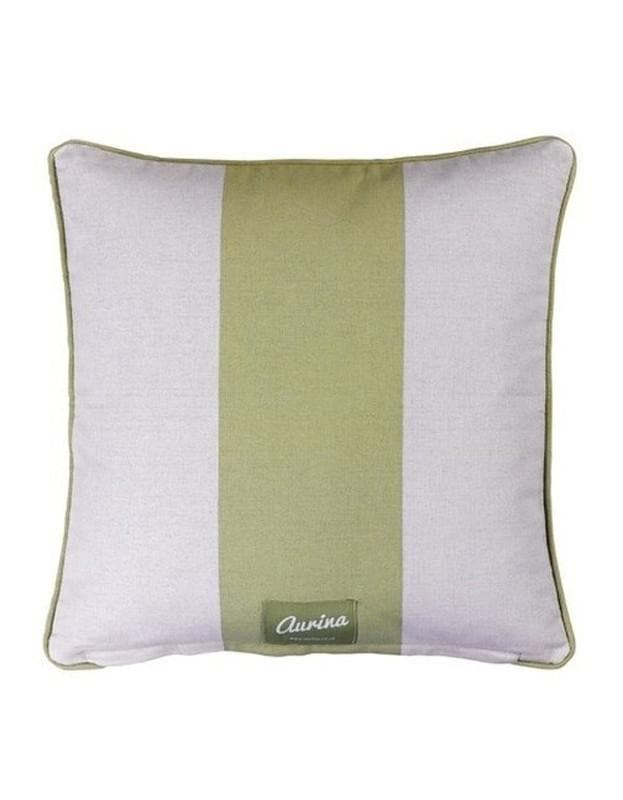 Piped Cushion Wide Stripe - Sage & Stone