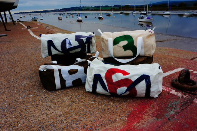Recycled Sail Cloth Flight Bag