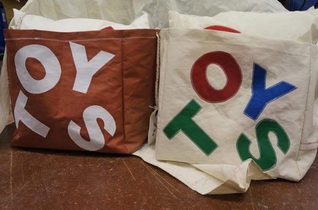 Recycled Sail Cloth Toy Bag