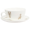 Bone China Tea Cup and Saucer Lobster Thermidor - Aurina Ltd
