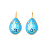 Teardrop Gem Earrings Aqua Blue - Aurina Ltd