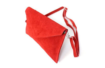 Soft Suede Envelope Clutch - Aurina Ltd
