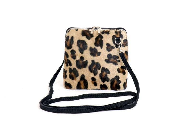Animal Hide Pouch Cross Body Bag - Aurina Ltd