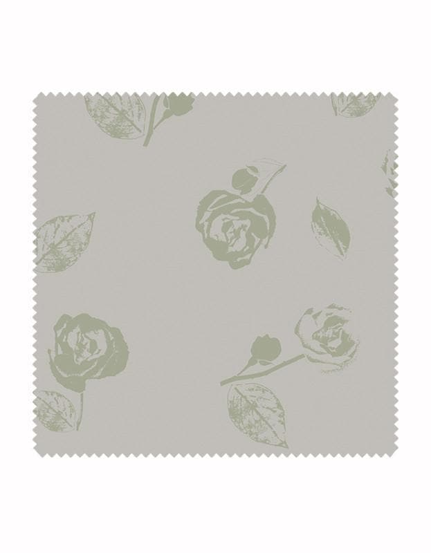 Vintage Rose Fabric in Sage & Stone