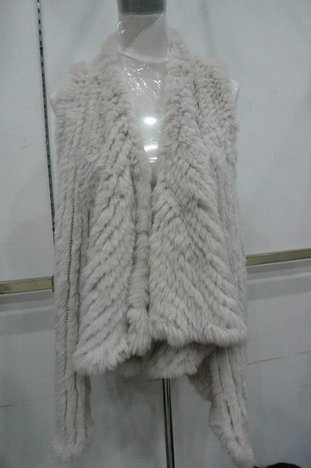 Fur Waterfall Gilet