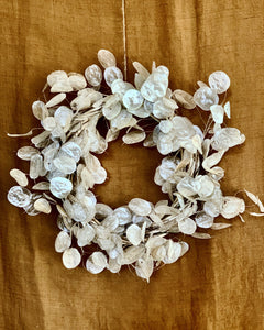 Dried Lunaria Wreath