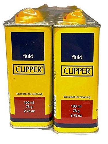 Clipper 12 x Lighter Refill Fuel Universal Lighter Fluid Cleaning Home 100ml