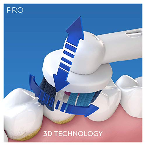 Oral-B Pro 650 Cross Action Electric Rechargeable Toothbrush Powered by Braun