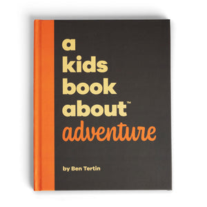 The front cover of the book with light yellow text on a chocolate background. The book has a bright orange spine.