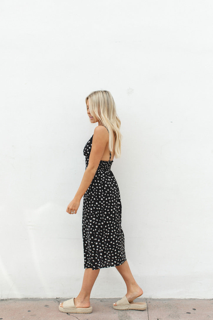 Penelope Tank Dress Black and Ivory