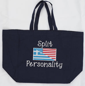 Split Personality Greek-American Canvas Tote Bag