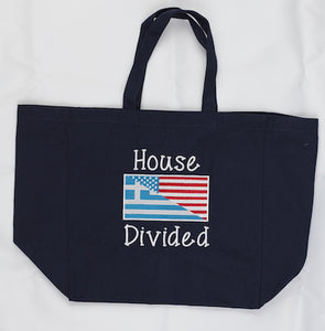 House Divided Greek-American Canvas Tote Bag