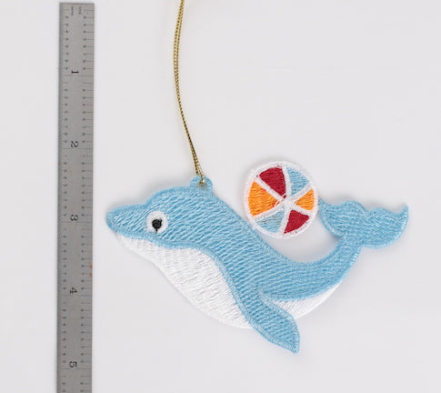 Dolphin with Ball Ornament