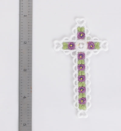 Flower cross bookmark