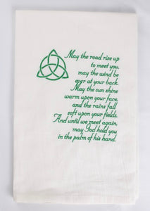 Irish Blessing Kitchen Towel/Dish Towel with the Trinity Knot