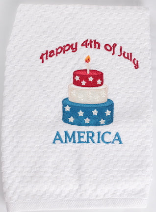 Happy 4th July Kitchen Towel