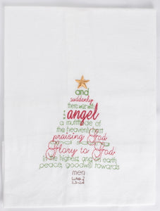 Luke Tree Christmas Kitchen Towel