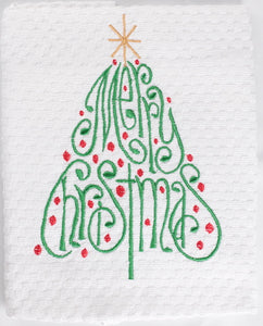 Merry Christmas Tree Kitchen Towel