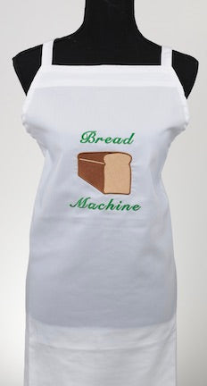 Bread Machine Embroidered Apron for Bakers