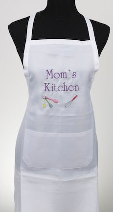 Mom's Kitchen Embroidered Apron