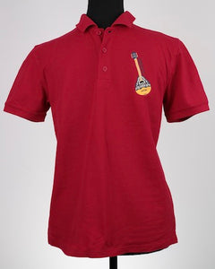 Child's Embroidered Polo Shirt with Greek Bouzouki