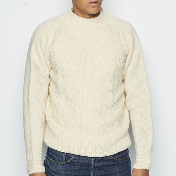 O'Dell's Pure New Wool Jumper in Cream