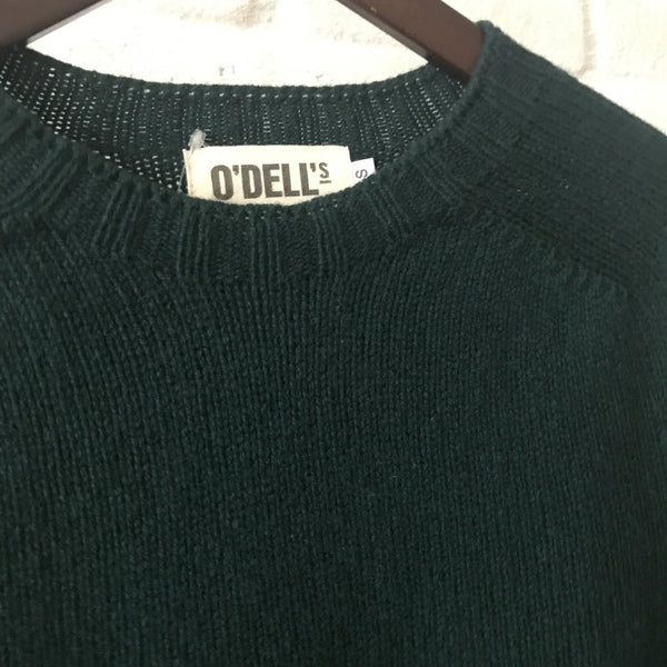 O'Dell's lambswool green jumper - Best Seller