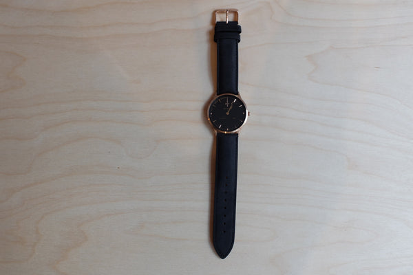 Nick Cabana Nilaya Watch in Black/Rose Gold
