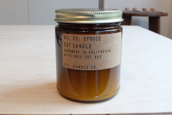 PF Candle Co : Spruce 7.5 oz Soy Candle (Best Seller)