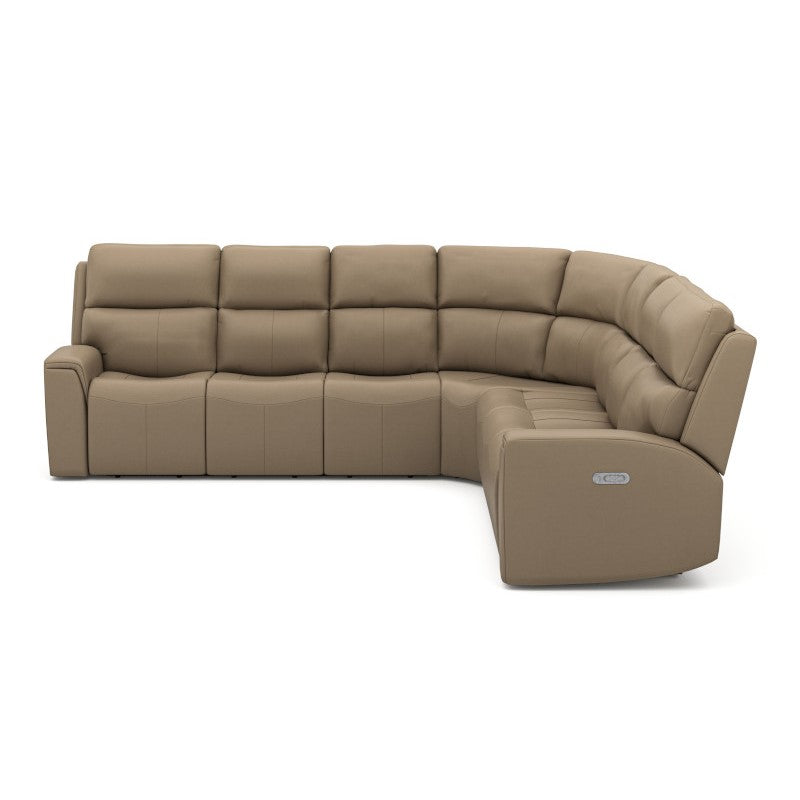Jarvis Leather Reclining Sectional