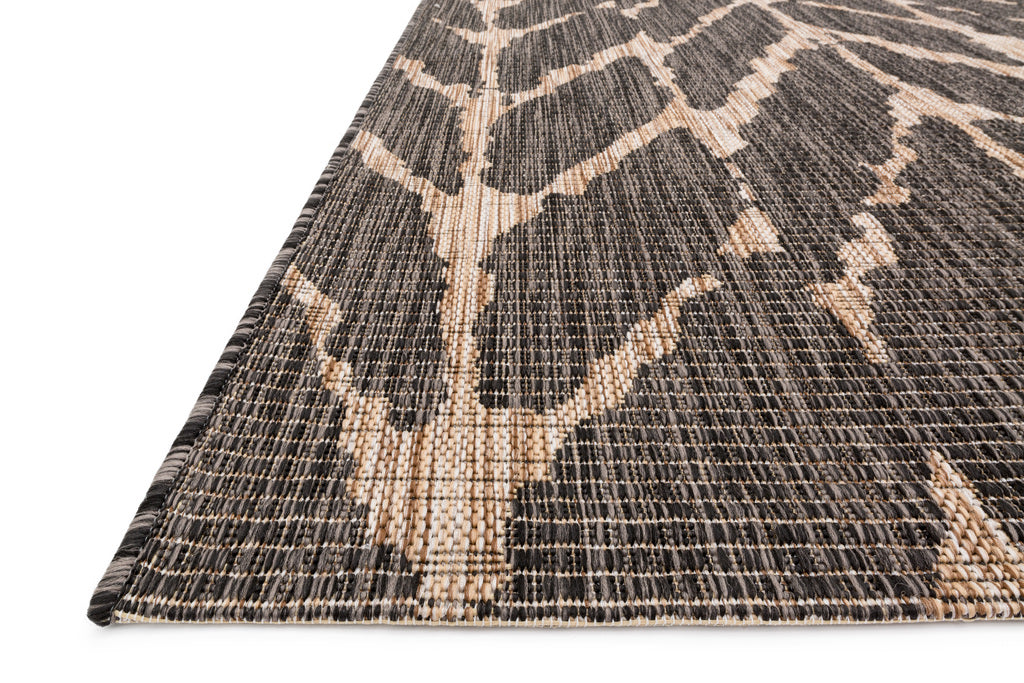Isle Charcoal & Mocha Indoor Outdoor Rug