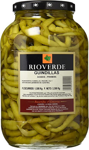 "GUINDILLAS (BASQUE HOT PEPPERS) IN WINE VINEGAR ""RIOVERDE"" 1.7KGS"