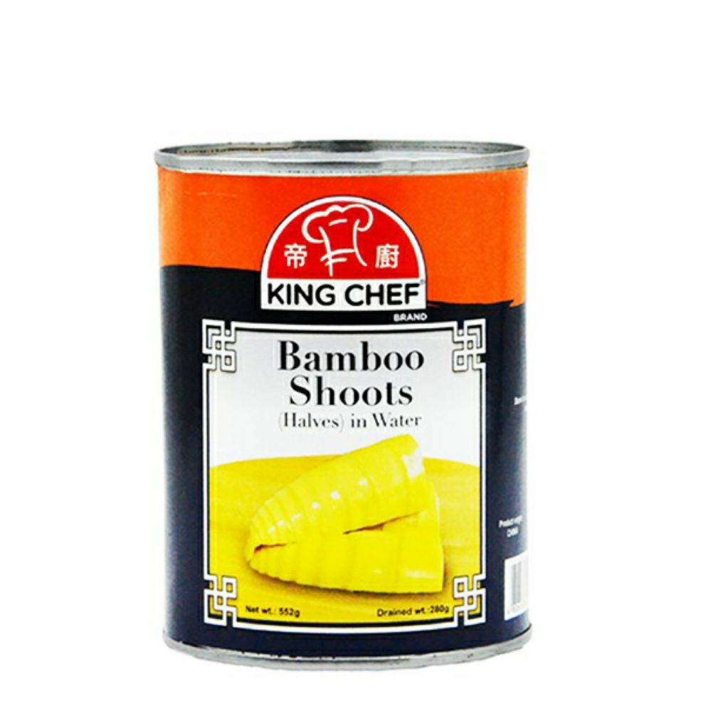 CANNED BAMBOO SHOOTS IN HALVES 552G - KING CHEF