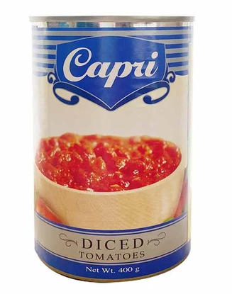 """CAPRI"" DICED TOMATOES 400G"