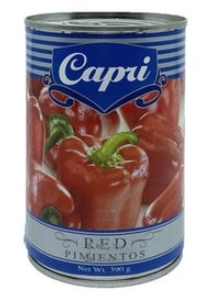 """CAPRI"" SWEET RED PIMIENTOS 390G"