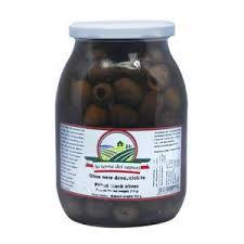 La Terra Dei Black Olives Pitted in glass (950g)
