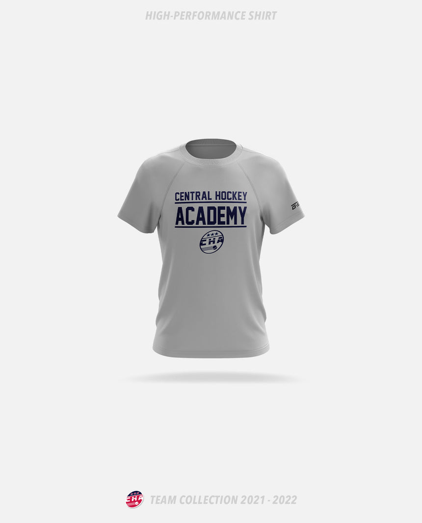 Central Hockey Academy Grey High-Performance Shirt - GSW Team Collection 2020-2021