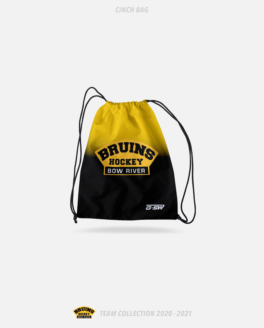 Bow River Bruins Cinch Bag - Bow River Bruins Team Collection 2020-2021